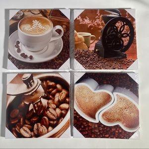 New 4 Kitchen canvas art coffee prints